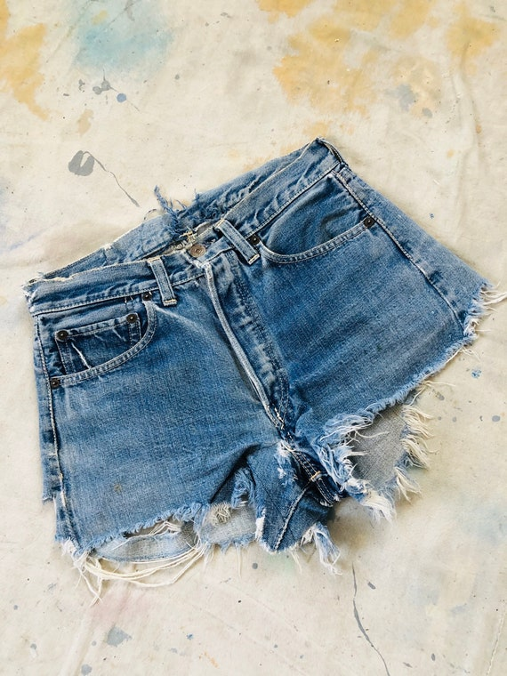 Rare Vintage 1950s Levis Big E Hidden Rivets Cut O