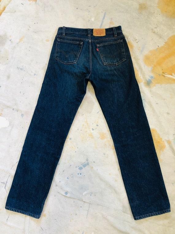 Rare Vintage 1970s Dark Wash Levis 701 Jeans Size… - image 8
