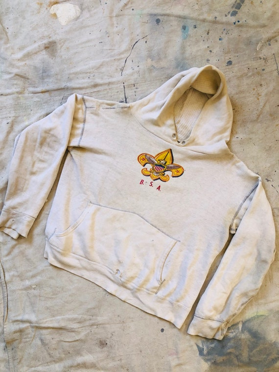 Vintage 1950s Hand Repaired Boy Scouts BSA Hooded