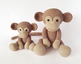 Best Amigurumi Crochet Monkey Patterns - Amigurumi Patterns Tutorials | 270x340
