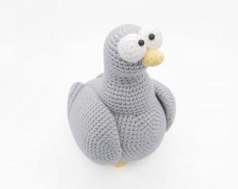 Pigeon Crochet PATTERN-Written in English UK Crochet Terms ... | 270x340