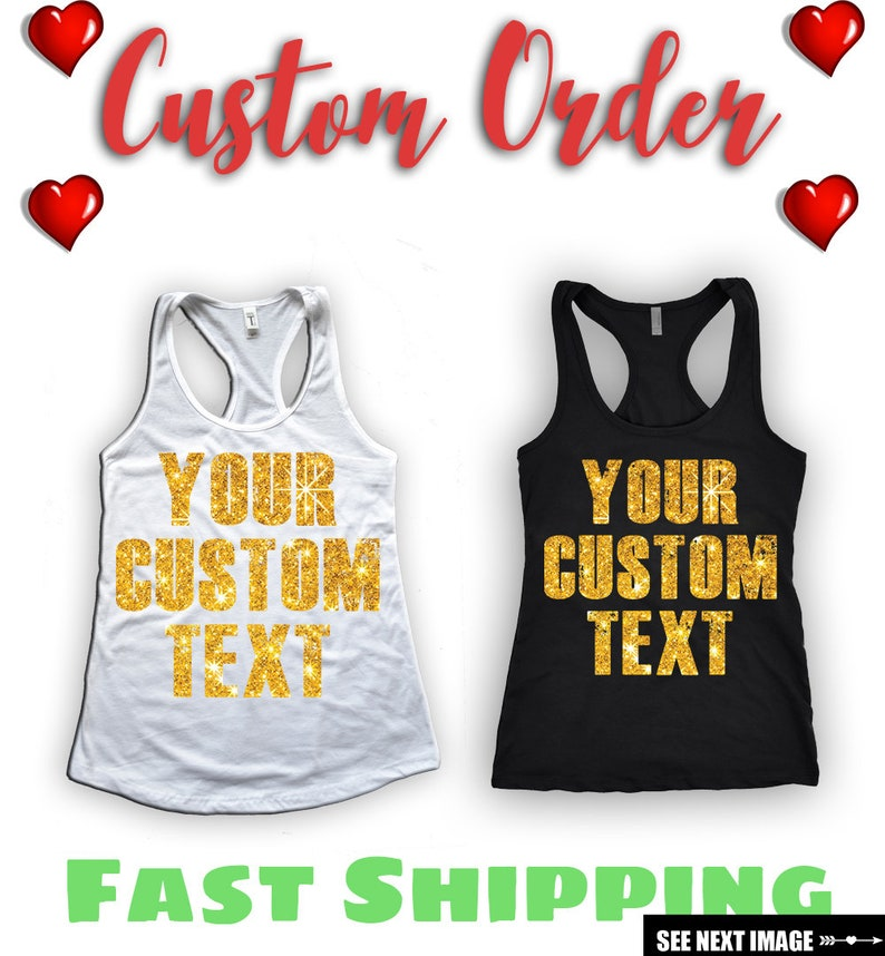 61ac261829c6d4 Personalized Tank Top Create Your Own Bachelorette Shirt