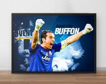 Buffon - Buffon Poster - Gigi Buffon - Italy Poster - Goalkeeper - Soccer Poster - Soccer art - Football poster - Football Gifts