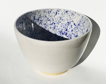 Speckled White Mixing Bowl