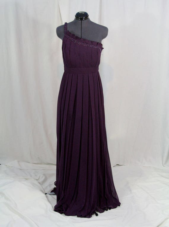 Mother of the bride or Bridesmaid chiffon purple, plum, eggplant dress size  16 Plus size