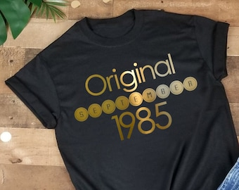 Personalized Original Month And Year T Shirt Gift Birthday Tee Customized With Date 20th 30th 40th Birth Anniversary Present