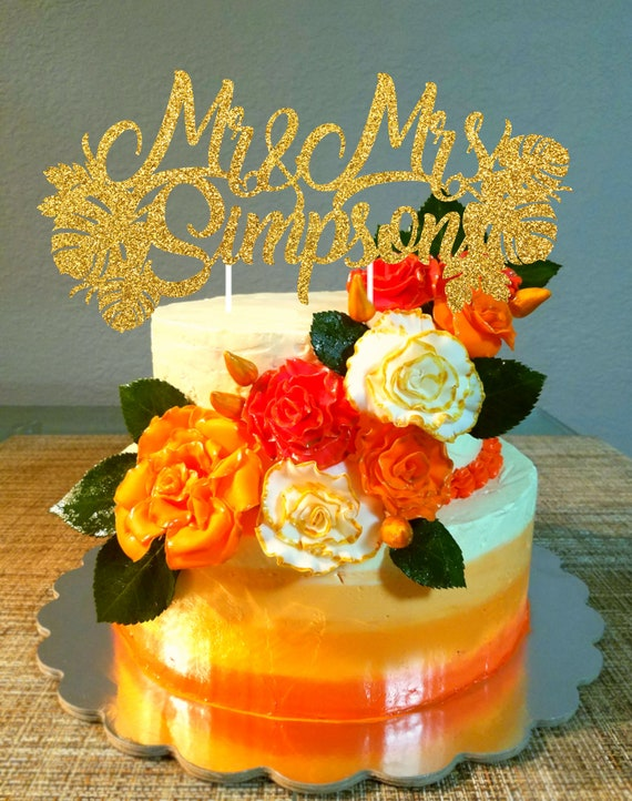 Personalized Wedding cake topper Mr and Mrs Last Name couple   Etsy