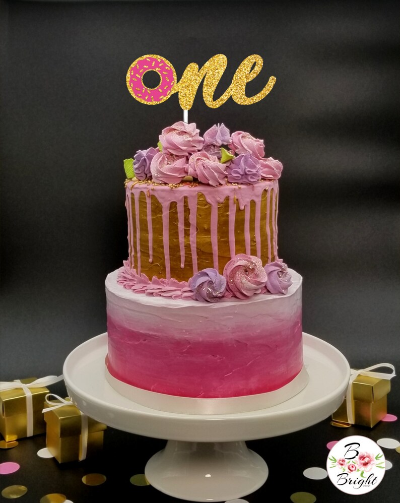 Any Age Donut Birthday Cake Topper Number