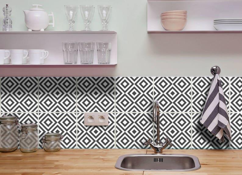 Badkamer Tegel Stickers : Tegel stickers badkamer en keuken backsplash wall decor tegels etsy