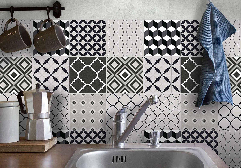 HANDgem. Fliesenaufkleber Küchen & Badezimmer Fliesensticker