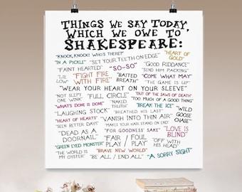 Shakespeare poster | Etsy
