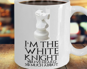 I'm The White Knight - Chess Players Coffee Mug 11/15oz - Chess Travel Mug Available - Can Be Customised