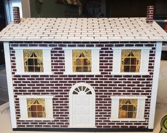Collapsible Doll House with Doll House Furniture