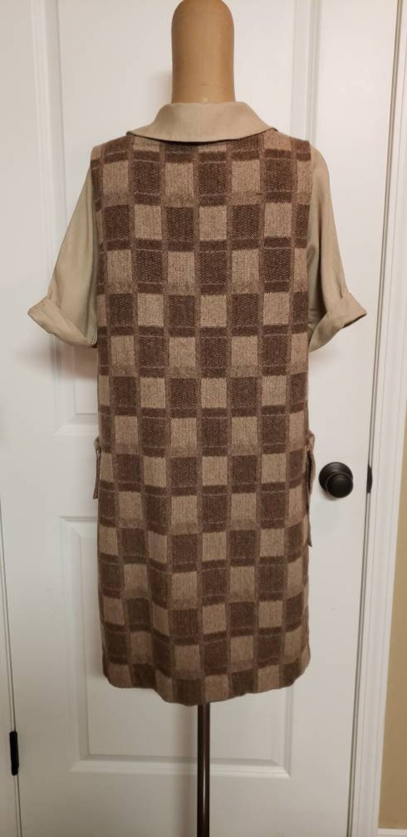 Approx size 1. Vintage toddler long sleeved shift dress 1970s