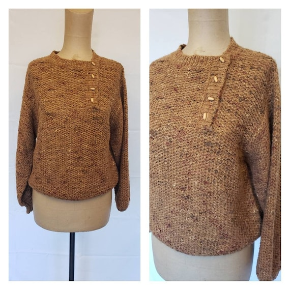 Vintage 80's Campus Casuals Brown Sweater
