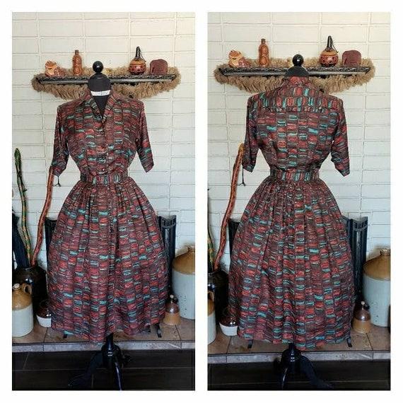 Vintage 1950's Joan Dell Day Dress