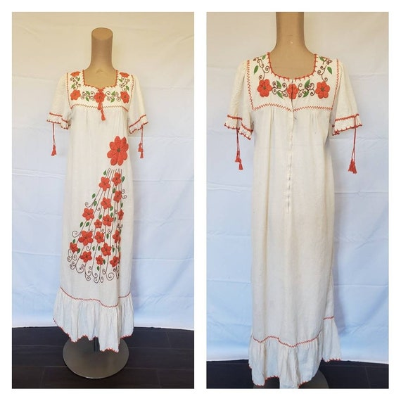 Mexican 1970s Dress