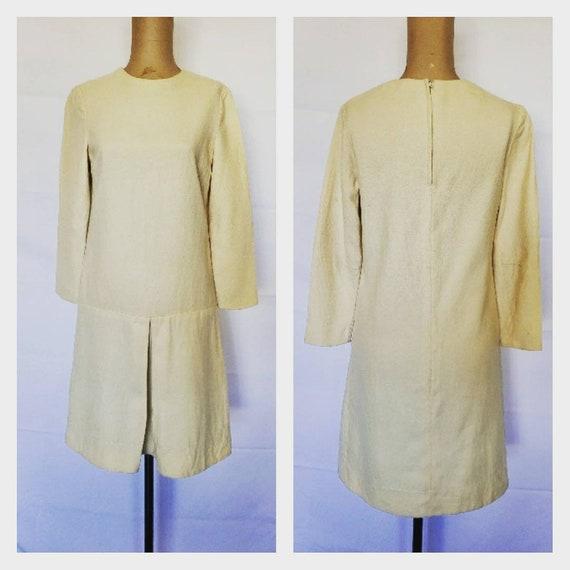 Vintage Marimekko Mod Dress Ivory