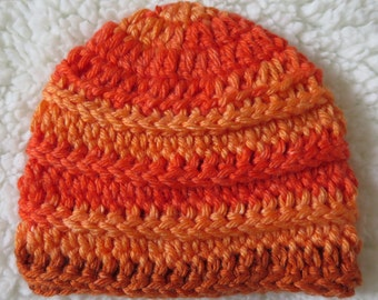 Autumn crochet ribbed beanie