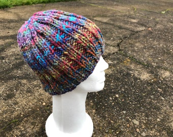 2d029197b9a02 Colorful Winter Hat Silk-Wool Womans.