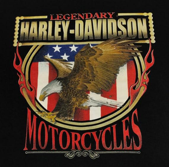 Vintage Harley Davidson Eagle East Side Tshirt - image 3