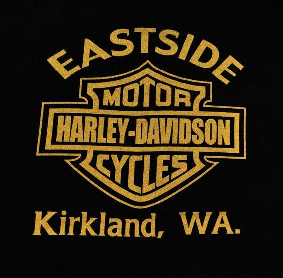 Vintage Harley Davidson Eagle East Side Tshirt - image 4