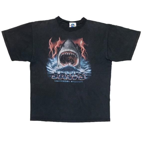 VINTAGE 90s JAWS UNIVERSAL Studios Rare T-shirt Mo