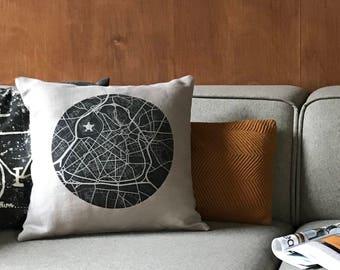 Card Lille linen pillow cover