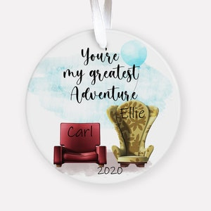 Couples Gift Gift for Her Disney Anniversary Ornament Disney Custom Christmas Ornament UP Carl and Ellie Anniversary Ornament