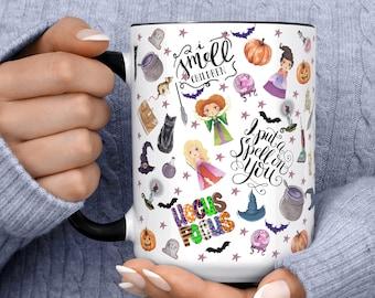 Hocus Pocus Character Doodles Mug | Sanderson Sisters Mug | Winnie Mug | I put a spell on you Mug |  Halloween Gift