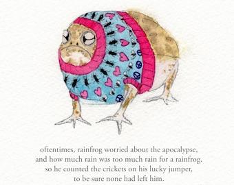 Rainfrog - print signed - zeppelinmoon