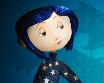 Coraline CUSTOM PAINTED SHOES!