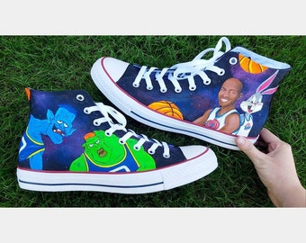 Space jam shoes   Etsy