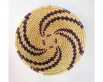 Boho Rainbow Swirl Basket