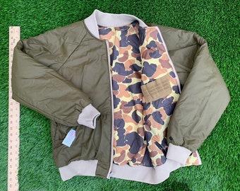 119b99b304100 80's Columbia reversible bomber jacket size small