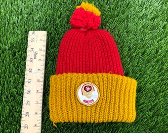 c4f1619630e 80 s San Francisco 49ers beanie skully hat