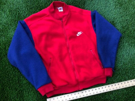 38e1e9494 Vintage Nike fleece bomber jacket medium large