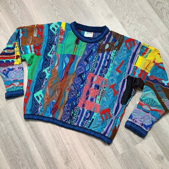 VTG 90s COOGI Australia knit sweater Textured L /