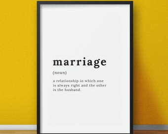 definition of the word marriage