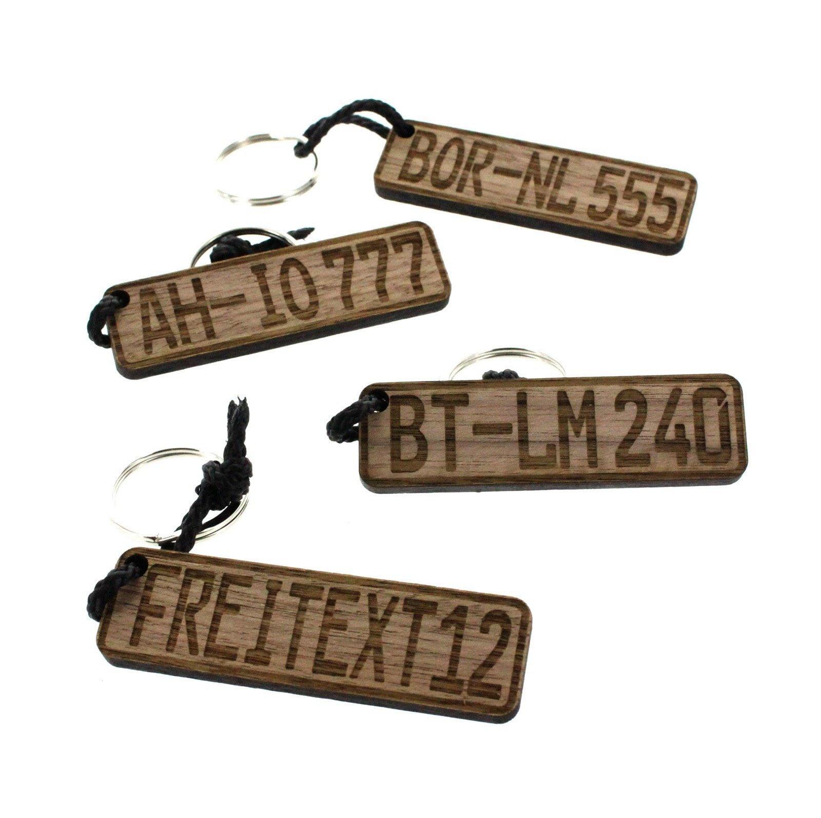 Schlüsselanhänger Auto Kennzeichen aus Holz | Etsy