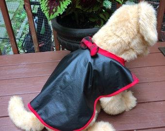 Faux Leather Dog Coat Medium