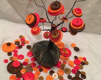 Fall Button Tree