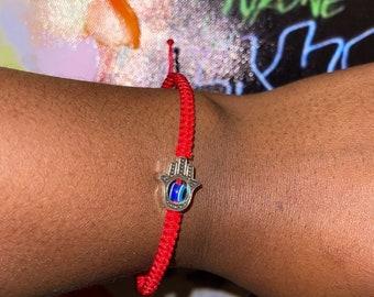 Hamsa Bracelet | Evil Eye | Protection | Nylon Cord | Adjustable |