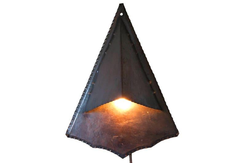 Lampada da parete di rame amsterdam school applique luce etsy