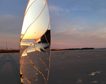 Beach Photography with Surfboard Reflection #1