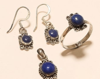 NEW 12mm SOLID Sterling Silver 925 Genuine Lapis Lazuli Marquis Studs Earrings