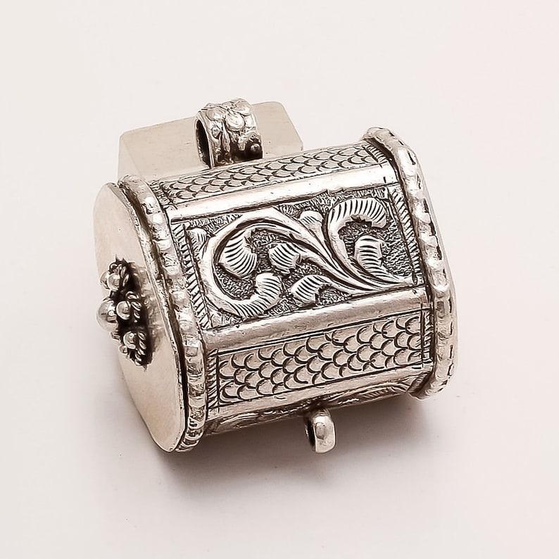925 Sterling Silver locket Pendant Antique Vintage Boho Gypsy Retro Fine Jewelry Tribal Unisex Jewelry Handmade Vintage Retro Jewelry Gifts