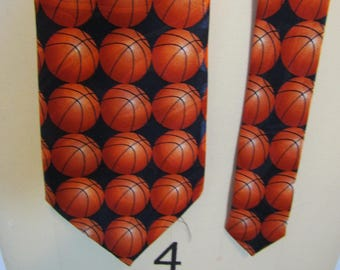 4afc6fb238d9 basketball tie, gift for coach, Fratello, neck tie, march madness, vintage  tie, 1990's, gift for guy, gift for Dad, retro, novelty, 18/39