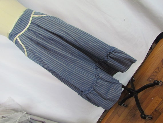 Gunne Sax Jessica's Gunnies blue striped skirt, 11