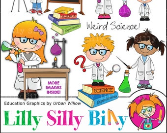 Science art - Graphics commercial use, chemistry, mad scientist, science experiments, digital images, digital clipart